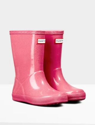 Hunter Kids First Classic Starcloud Boots Arcade Pink