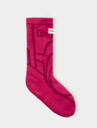Hunter Kids Original Boots Slipper Sock Pink