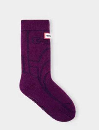 Hunter Kids Original Boots Slipper Sock Violet