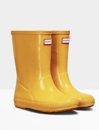 Hunter Kids Original First Wellington Boots Gloss Yellow