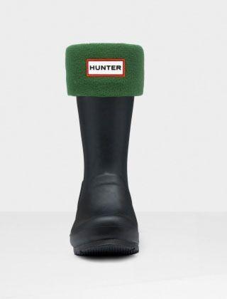 Hunter Kids Welly Boot Socks Green