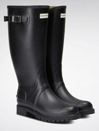 Hunter Men's Balmoral Neoprene Wide Fit Boot Black