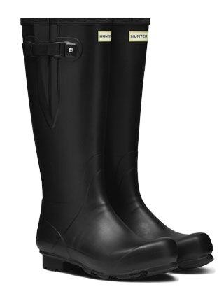 Hunter Men's Norris Field Side Adjustable Boot Black