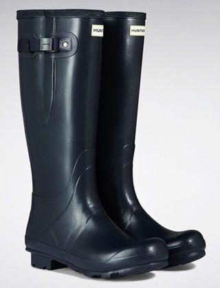 Hunter Men's Norris Field Side Adjustable Boot Navy