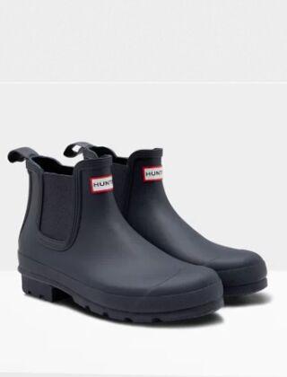 Hunter Men's Original Chelsea Boots Navy