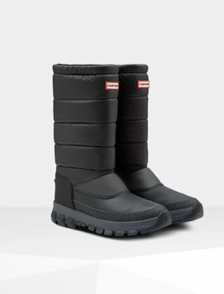 Hunter Men's Original Tall Insulated Snow Boot Black