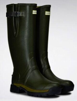 Hunter Men's Balmoral Adjustable 3mm Neoprene Boot Dark Olive