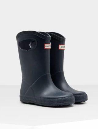 Hunter Original Kids First Classic Grab Handle Boots Navy