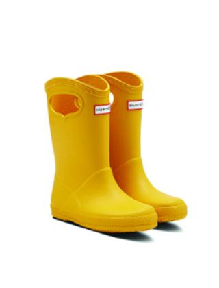 Hunter Original Kids First Classic Grab Handle Boots Yellow