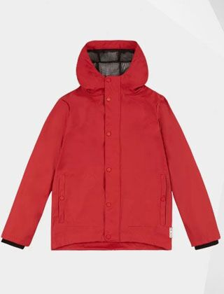 Hunter Original Kids Lightweight Waterproof Jacket Military Red