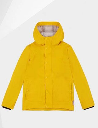 Hunter Original Kids Lightweight Waterproof Jacket Yellow