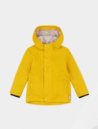Hunter Original Little Kids Lightweight Waterproof Jacket Yellow