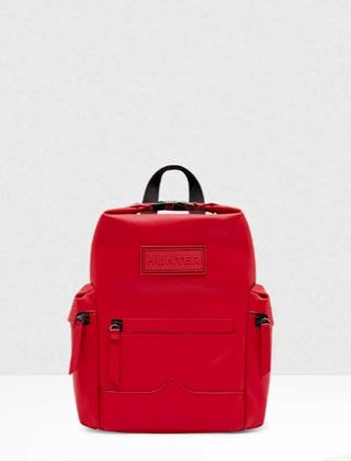 Hunter Original Top Clip Mini Rubber Backpack Military Red