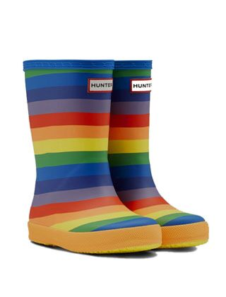 Hunter Kids First Classic Rainbow Print Wellies Multi