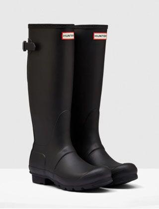 Hunter Women's Back Adjustable Boot Black