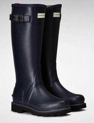 Hunter Women's Balmoral Poly Lined Boot Navy/Peppercorn