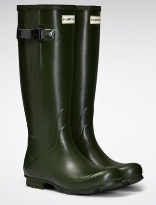 Hunter Women's Norris Field Side Adj Wellington Boots Vintage Green