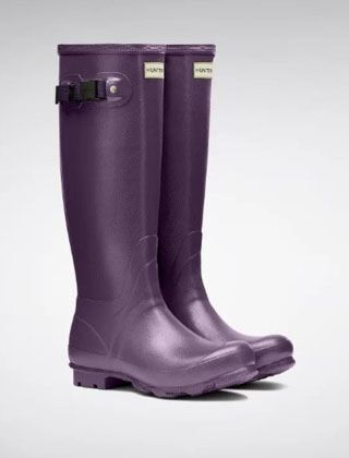 Hunter Women's Norris Field Wellington Boots Dark Iris