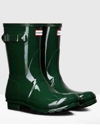 Hunter Women's Original Gloss Short Boot Hunter Green