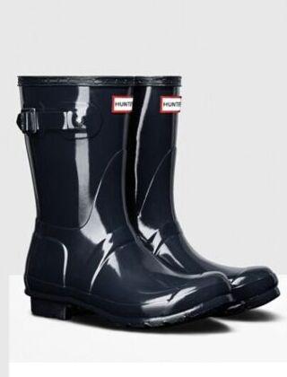 Hunter Women's Original Gloss Short Boot Navy