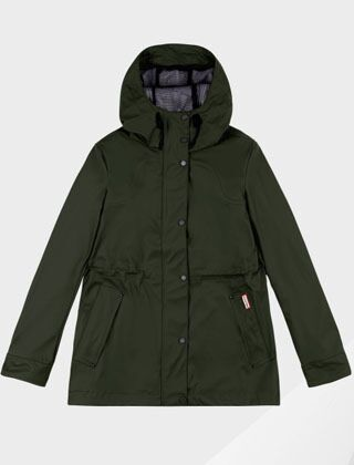 Hunter Women's Original Lightweight Rubberised Jacket Dark Olive
