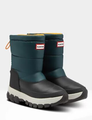 Hunter Women's Original Short Snow Boot Green Jasper/Geysers
