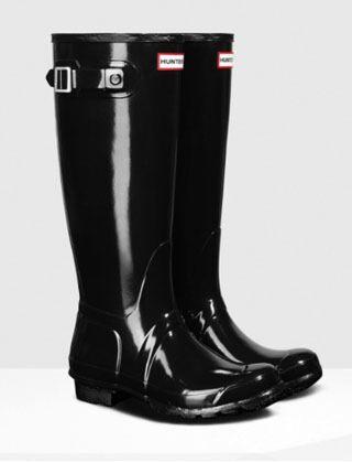 Hunter Women's Original Tall Gloss Boot Black