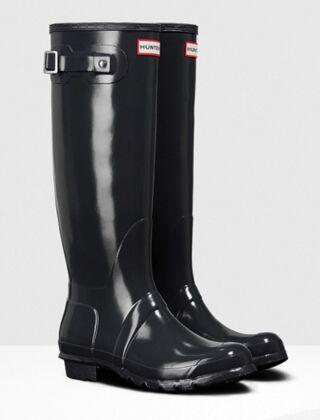 Hunter Women's Original Tall Gloss Boot Dark Slate