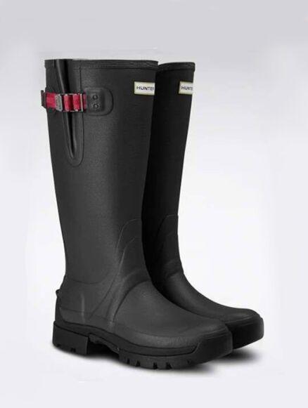 Hunter Women's Balmoral Side Adjustable Neo Tech Sole Boot Dark Slate/Peppercorn
