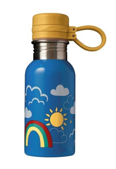 Frugi Splish Splash Steel Bottle Rainbow Skies