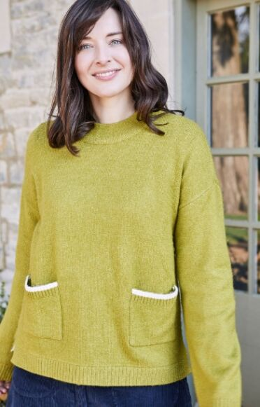 Lily and Me Hygge Jumper Plain Green
