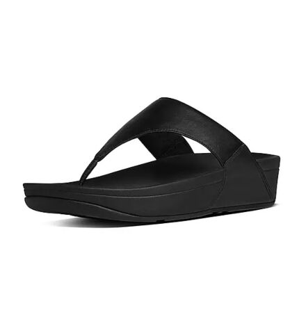Fitflops Lulu Leather Toe Post Sandals Black