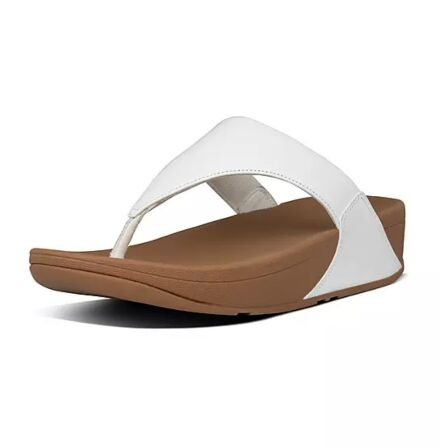 Fitflops Lulu Leather Toe Post Sandals White