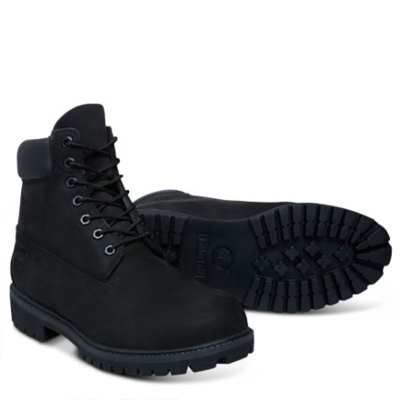 """Timberland Mens Iconic 6"""" Premium Boots Black Clearance-UK 11"""