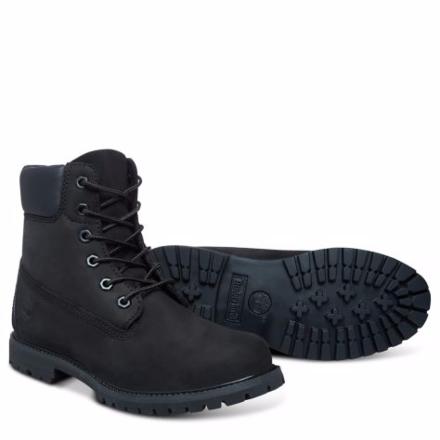 "Timberland Womens Iconic 6"" Premium Boots Black"