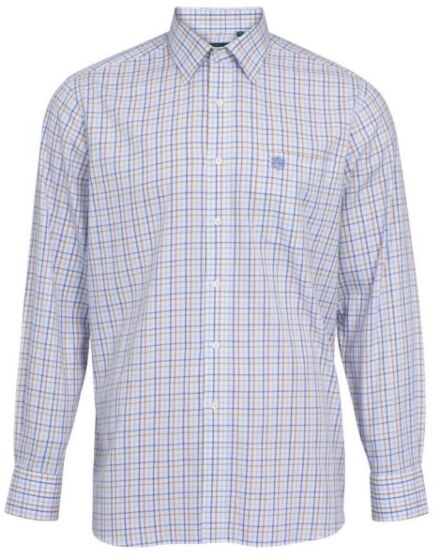Alan Paine Ilkley Mens Country Check Shirt Blue/Beige