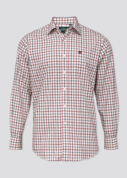 Alan Paine Ilkley Mens Country Check Shirt Red Check