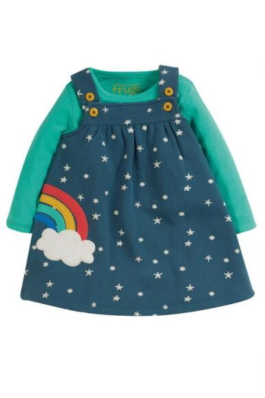 Frugi Pippa Pinafore Abisko Stars/Rainbow