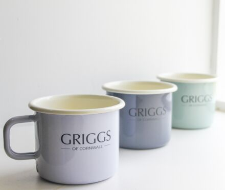 Griggs Of Cornwall Enamel Mug Slate