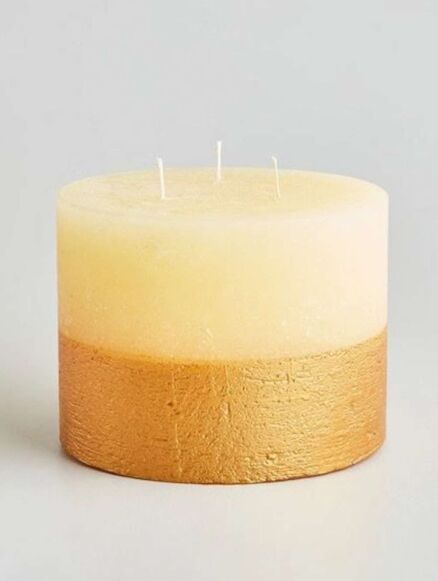 St Eval Inspiritus Gold Half-Dipped Multiwick Candle