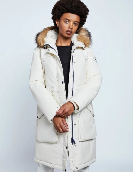 Hunter Women's Original Insulated Parka Jacket Off White