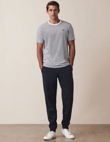 Crew Clothing Cotton Jersey Joggers Heritage Navy