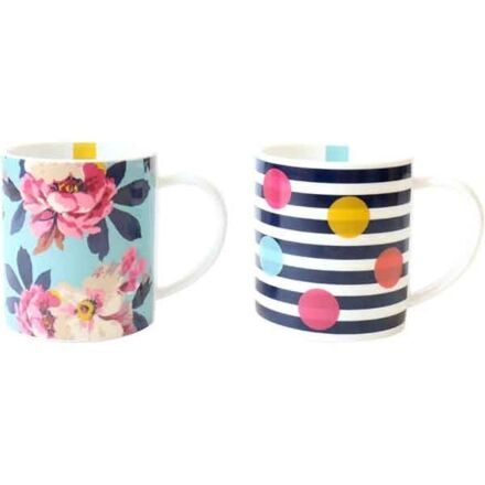Joules Gift Mugs Set Of 2