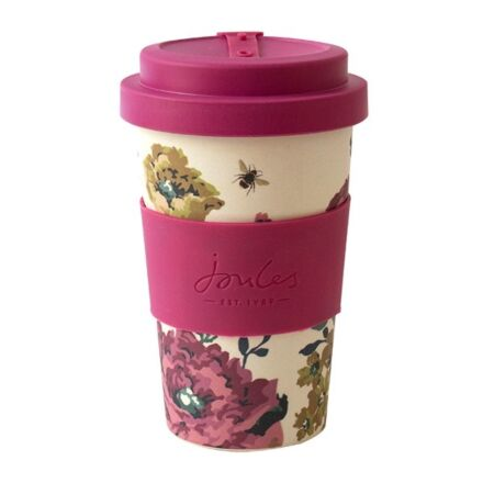 Joules Cambridge Floral Bamboo Travel Cup