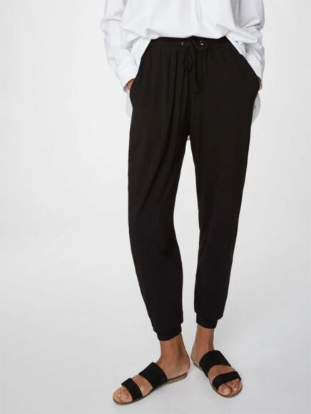 Thought Emerson Tie Waist Bamboo Joggers Black