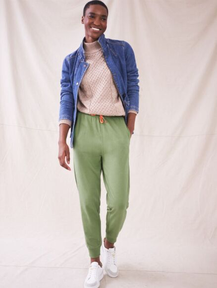 White Stuff Cowberry Joggers Mid Green