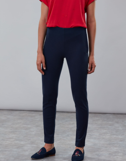 Joules Hepworth Pull on Stretch Trousers Marine Navy
