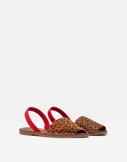 Joules Nova Menorcan Sandals Leopard