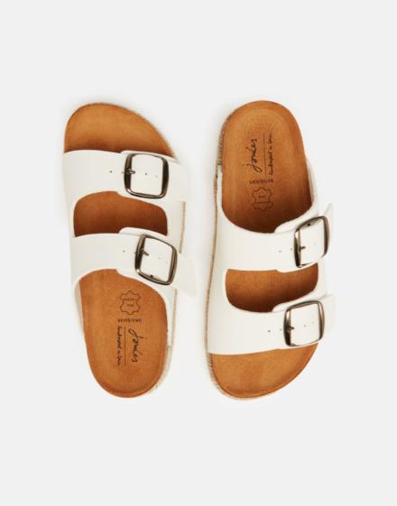 Joules Reina Slider Sandals White