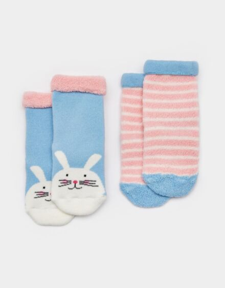 Joules Baby Terry Towelling Socks Bunny